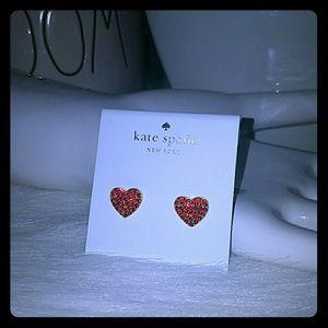 Kate spade pave heart Earrings